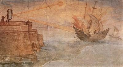 Уничтожение кораблей при помощи зеркала. Архимед ликует