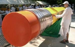 Ластик самого большого карандаша в мире