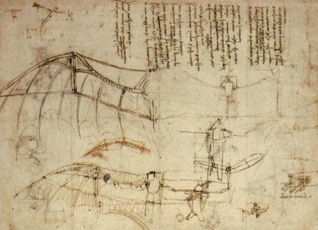 Чертежи крыльев Леонардо да Винчи