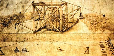 Эскиз экскаватора Леонардо да Винчи