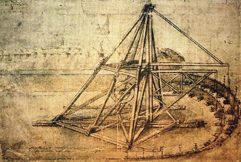 Эскиз экскаватора Леонардо да Винчи 2