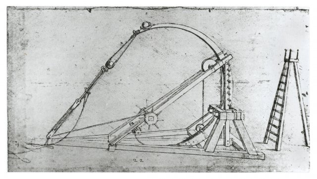 Двухзарядная катапульта Леонардо да Винчи