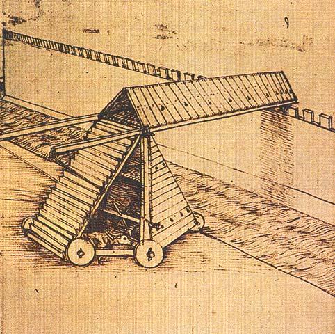 Крытая тележка для штурма стен