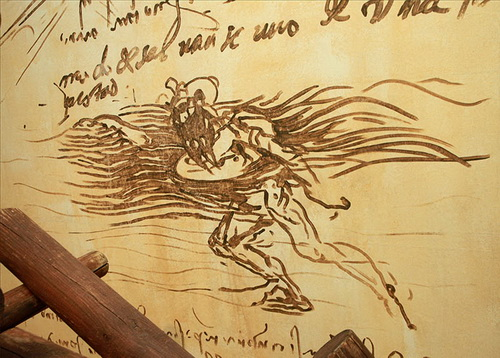 Эскиз спасательного круга Леонардо да Винчи