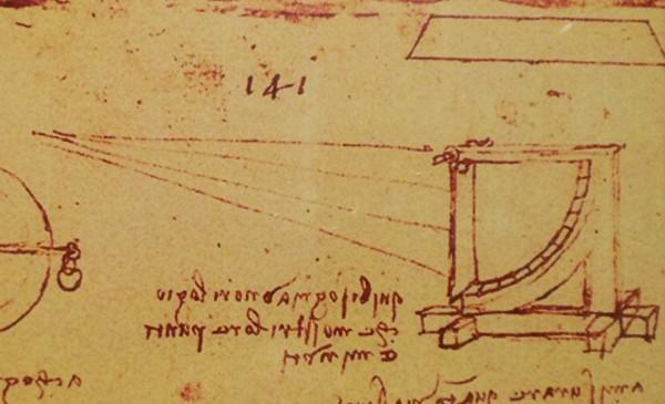 Эскиз анемометра Леонардо да Винчи