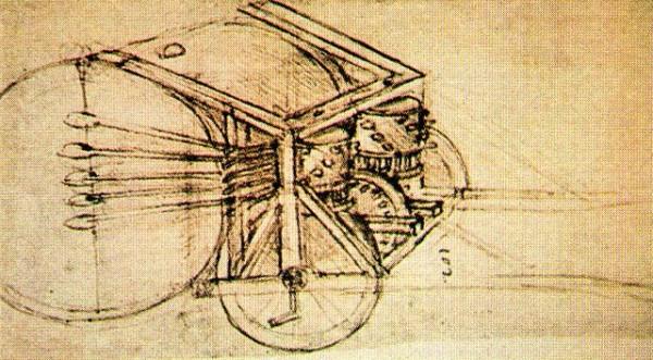 Военные барабаны Леонардо да Винчи