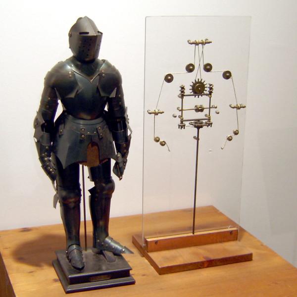 Реконструкция робота Леонардо да Винчи и внутреннее устройство