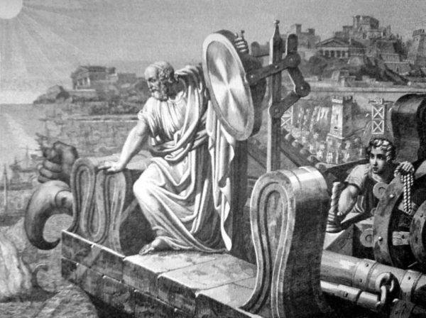 Архимед применят зеркало